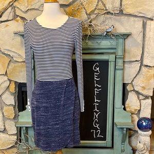 Anthropologie Dresses - Anthropologie Dolan Left Coast Striped Mixed Dress